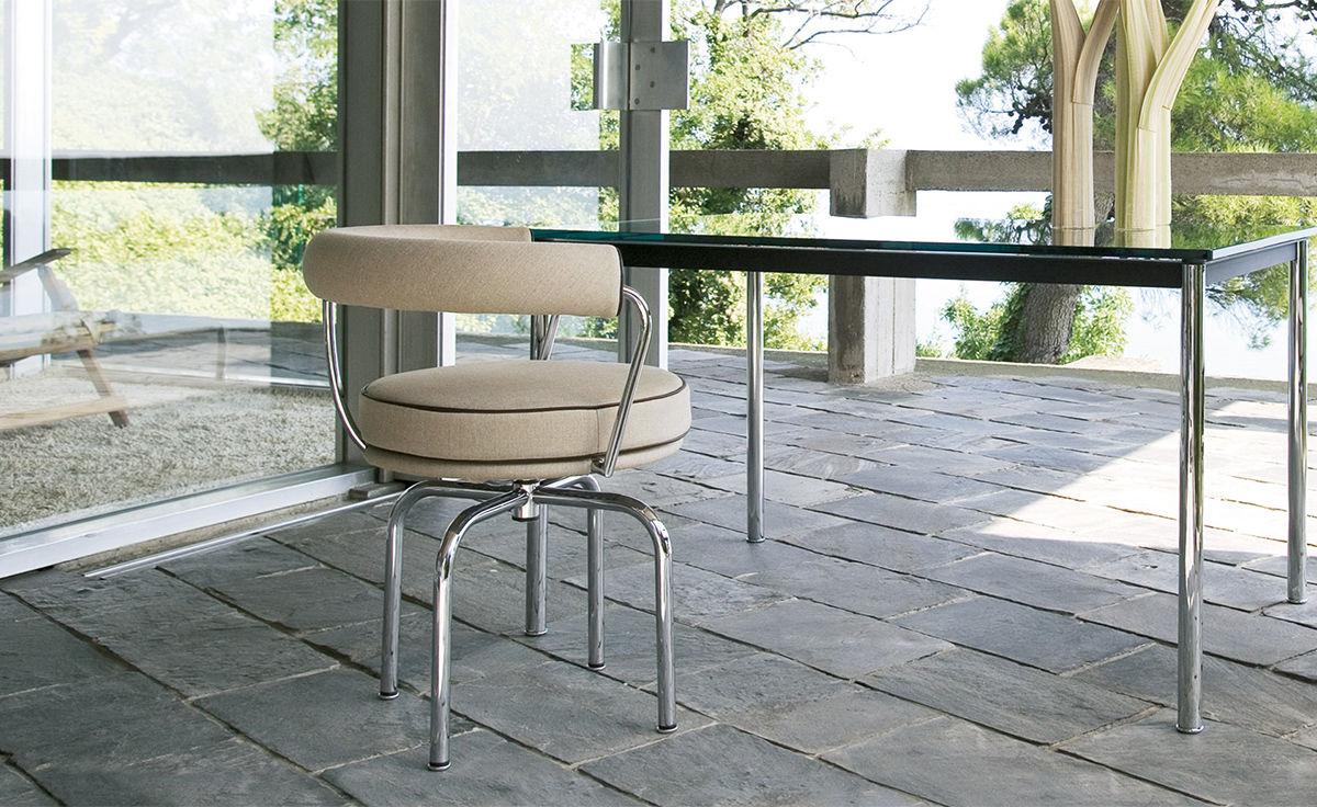 Le Corbusier Lc7 Swivel Chair - hivemodern.com