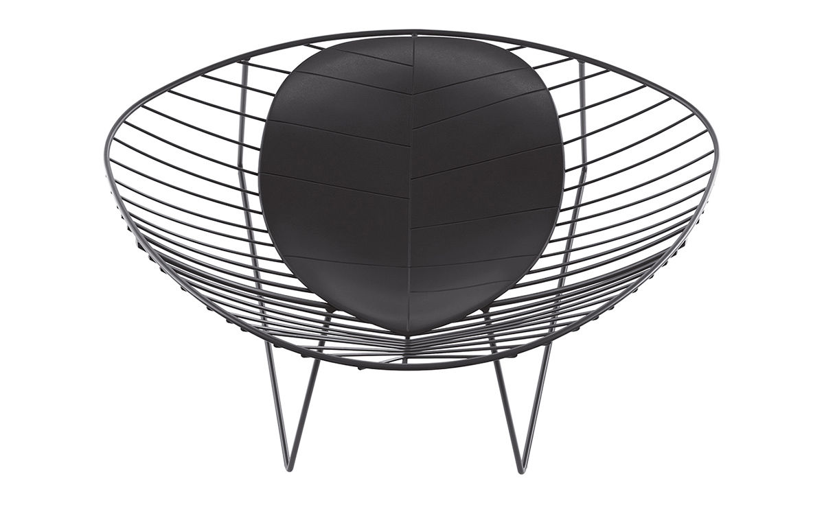 Oval lounge chair - Overview