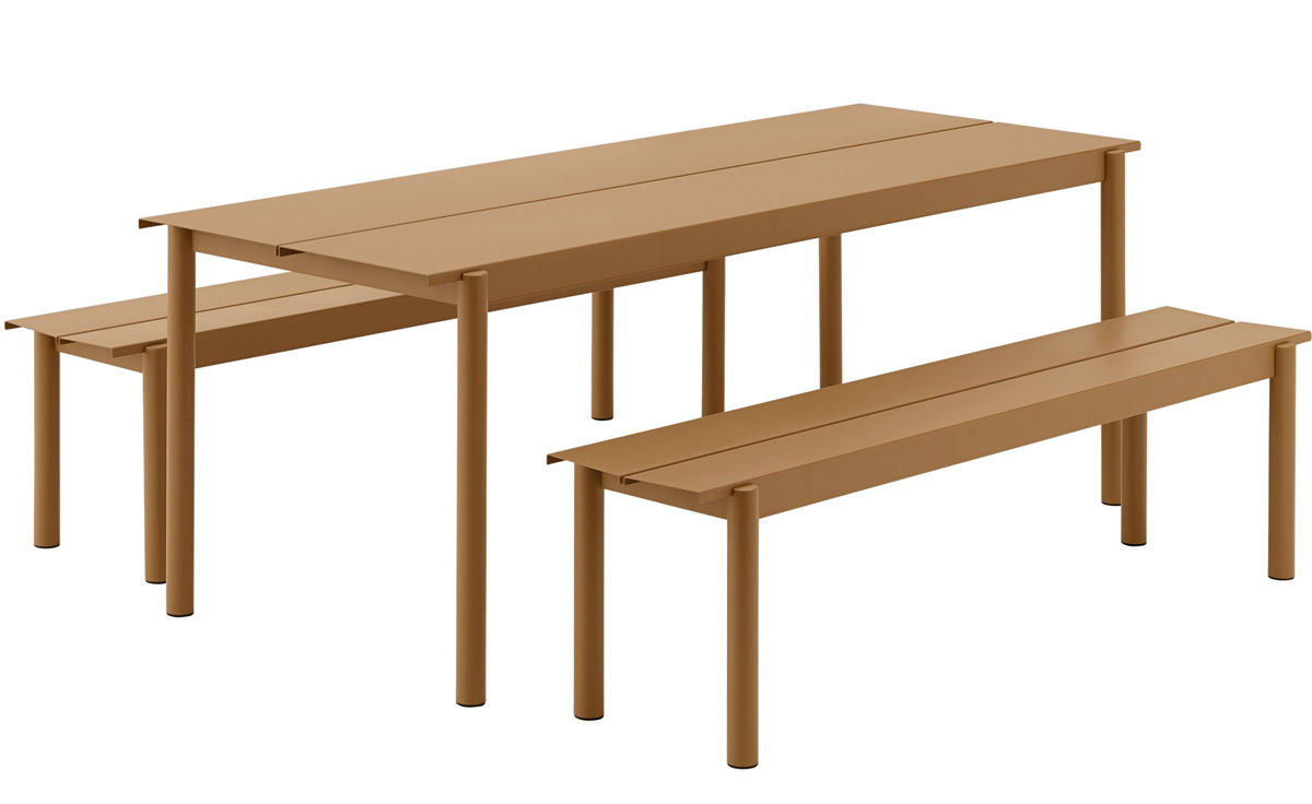 Awe Inspiring Linear Steel Bench Gmtry Best Dining Table And Chair Ideas Images Gmtryco