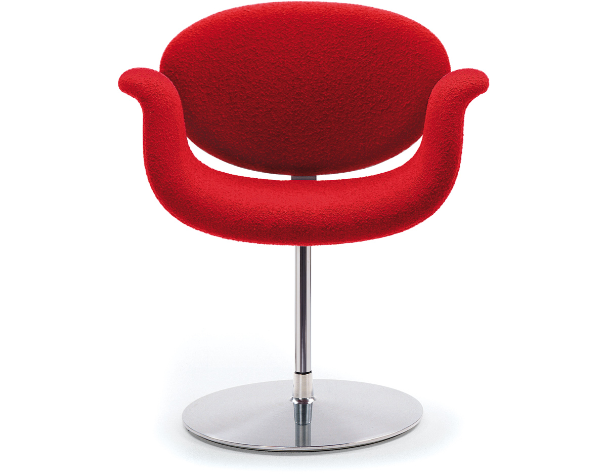 little tulip chair with disc base   hivemodern