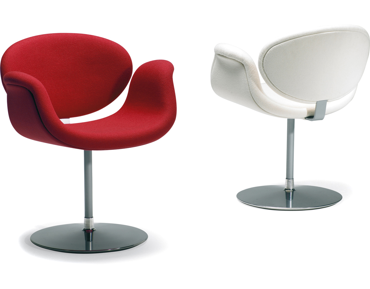Little Tulip Chair With Disc Base - hivemodern.com