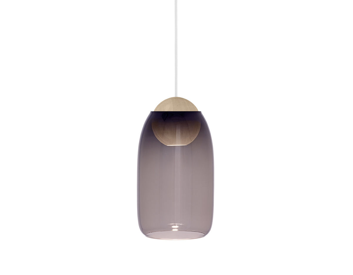 Liuku ball pendant light with glass shade for Modern hive