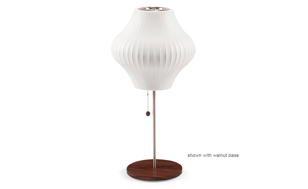 Nelson lotus table lamp pear hivemodern nelson lotus table lamp pear aloadofball Gallery
