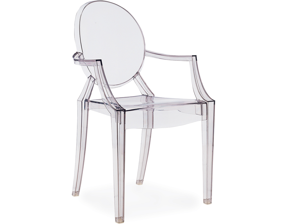 Louis ghost chair 2 pack for Philippe starck chaise
