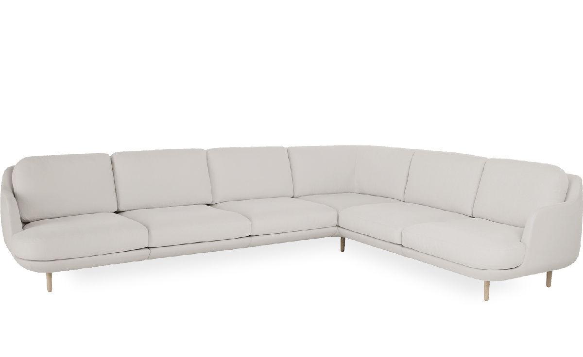 lune 6 seat sofa with corner. Black Bedroom Furniture Sets. Home Design Ideas