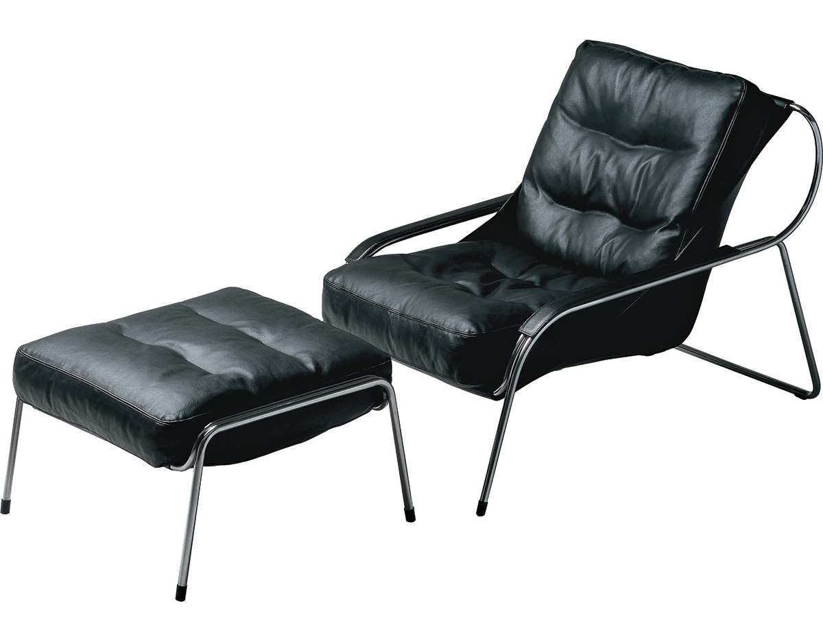 Maggiolina Lounge Chair & Ottoman hivemodern