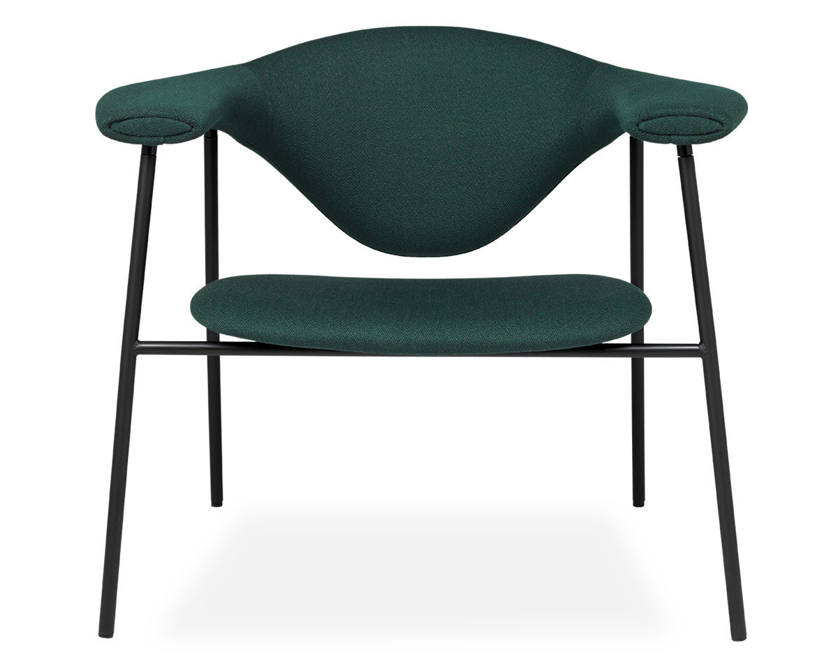 Masculo Lounge Chair With 4 Leg Base Hivemodern Com