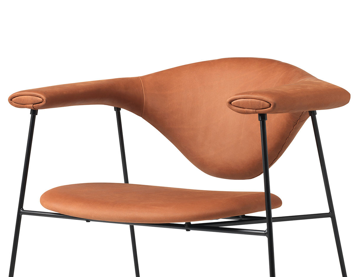 Masculo Lounge Chair With Sled Base Hivemodern Com