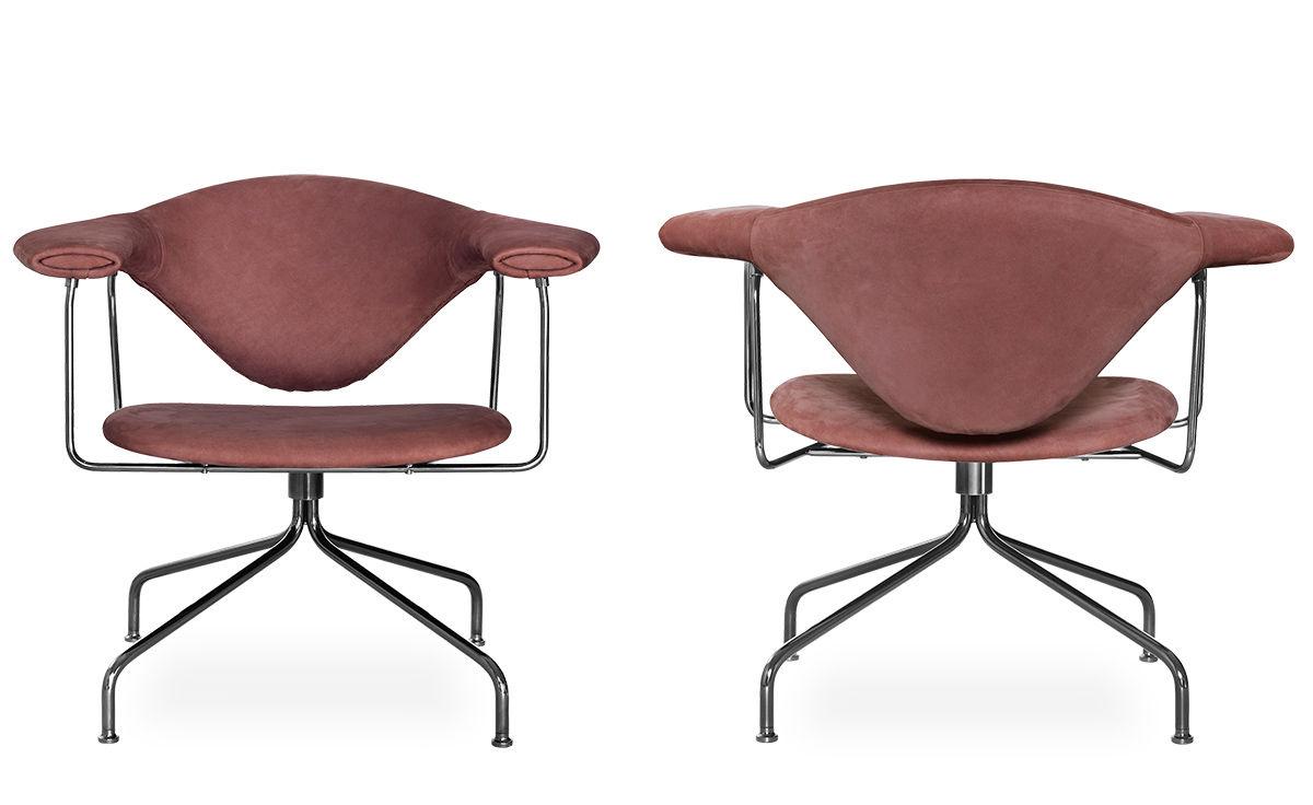 Masculo Swivel Base Lounge Chair Hivemodern Com