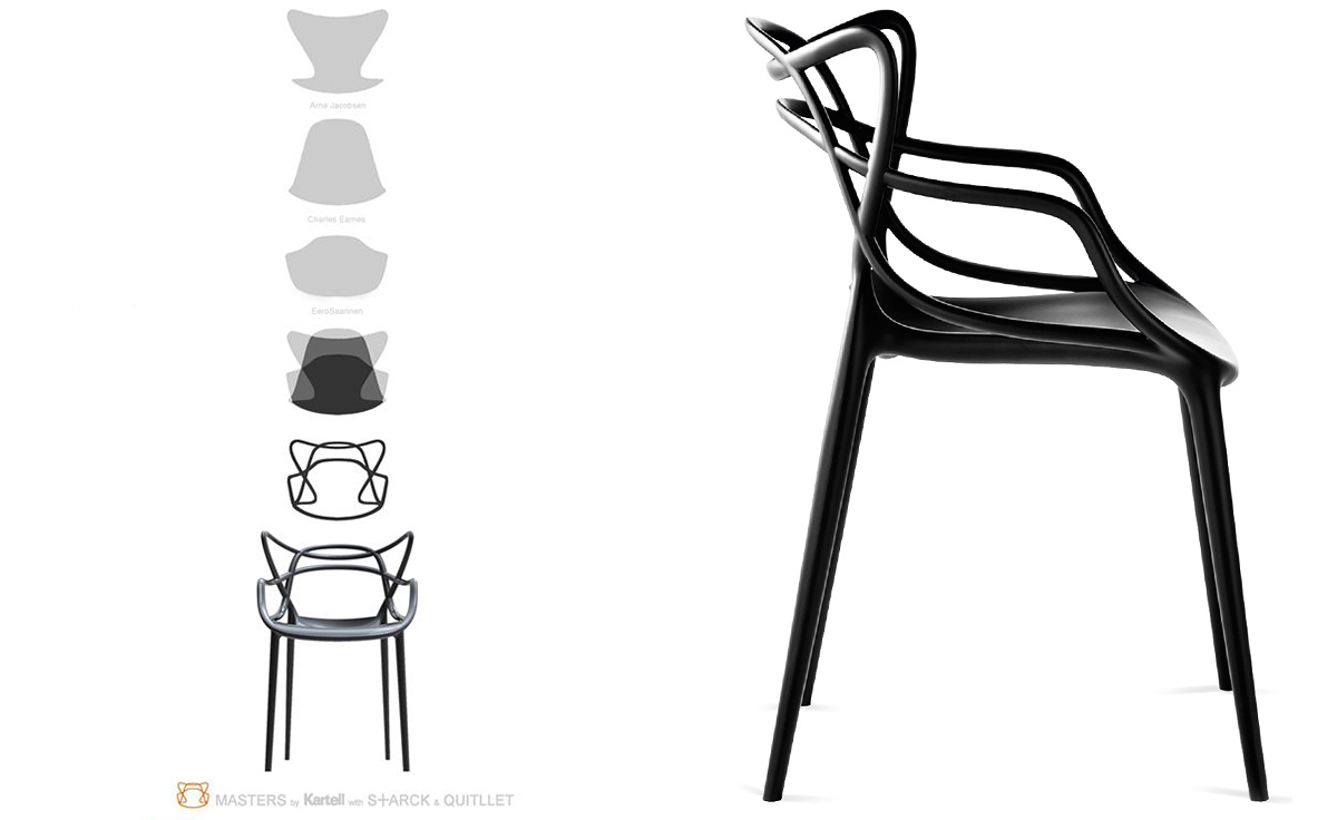 Masters chair 4 pack special price Chaise kartell masters