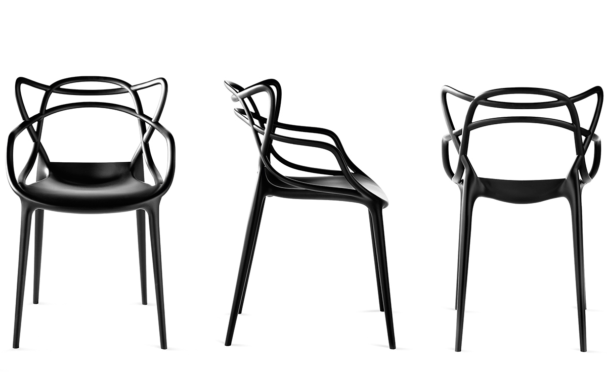 Masters stacking chair 2 pack for Philippe starck chair