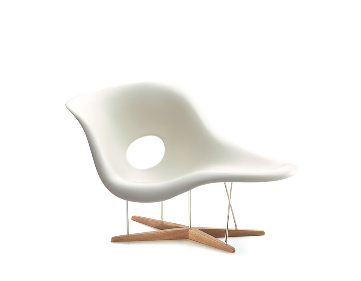 Miniature eames la chaise for Imitation chaise vitra
