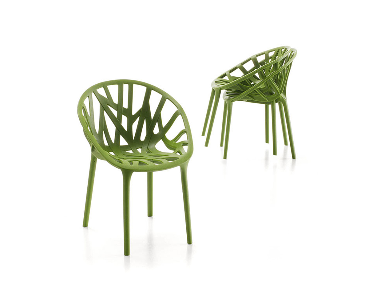 Miniature vegetal chair set of 3 for Mini designer chairs