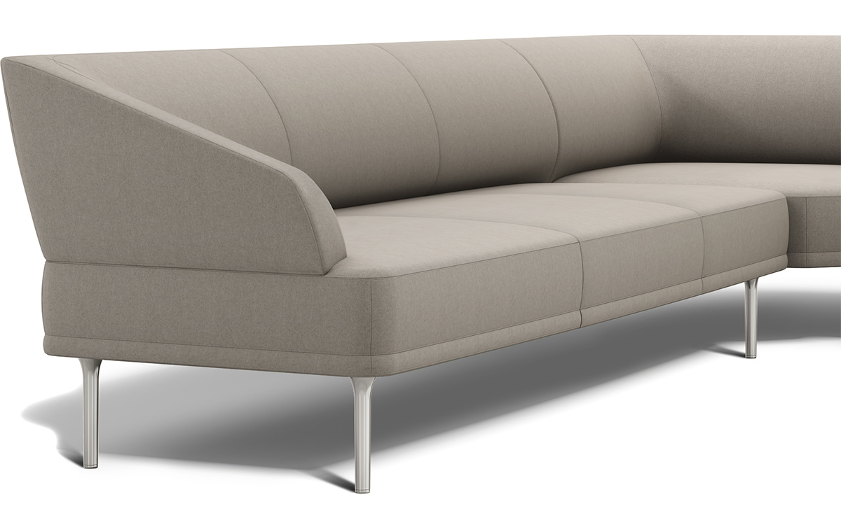 stem viesso of corner rio by showing the sleeper sectional full angle view