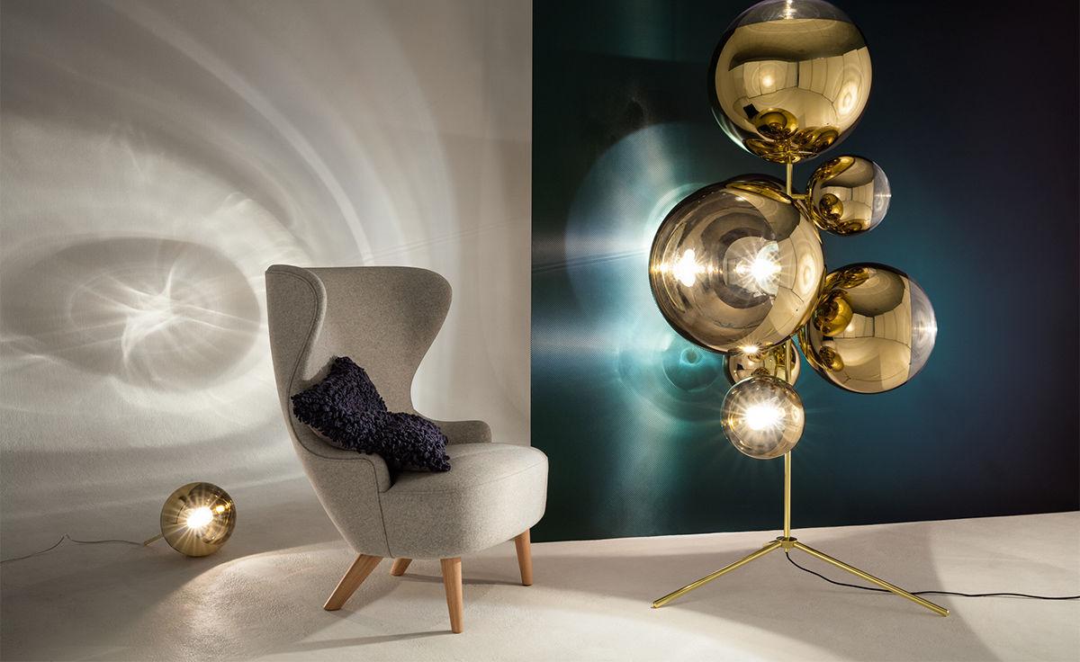mirror ball tripod floor lamp. Black Bedroom Furniture Sets. Home Design Ideas