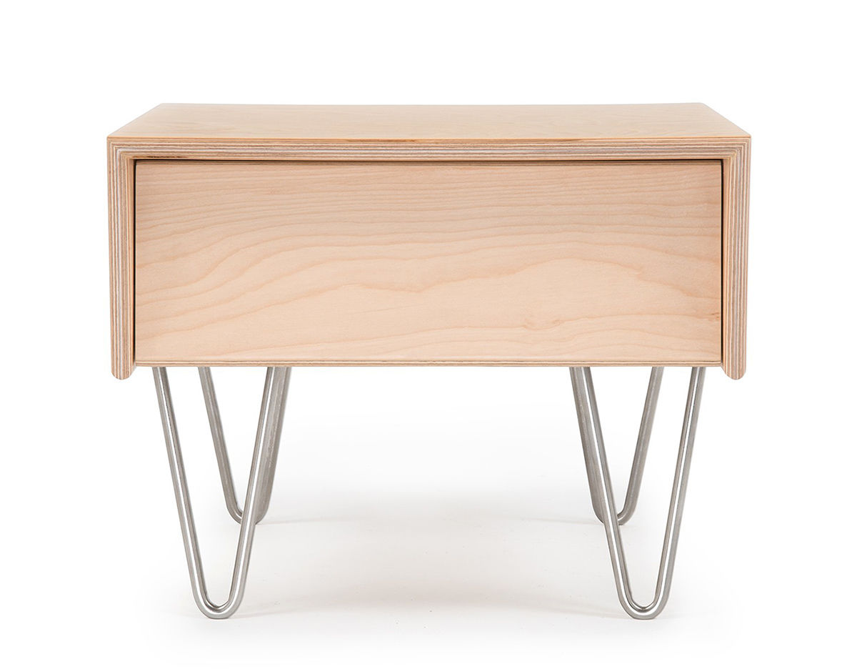 Case Study V Leg Bedside Table   Modernica