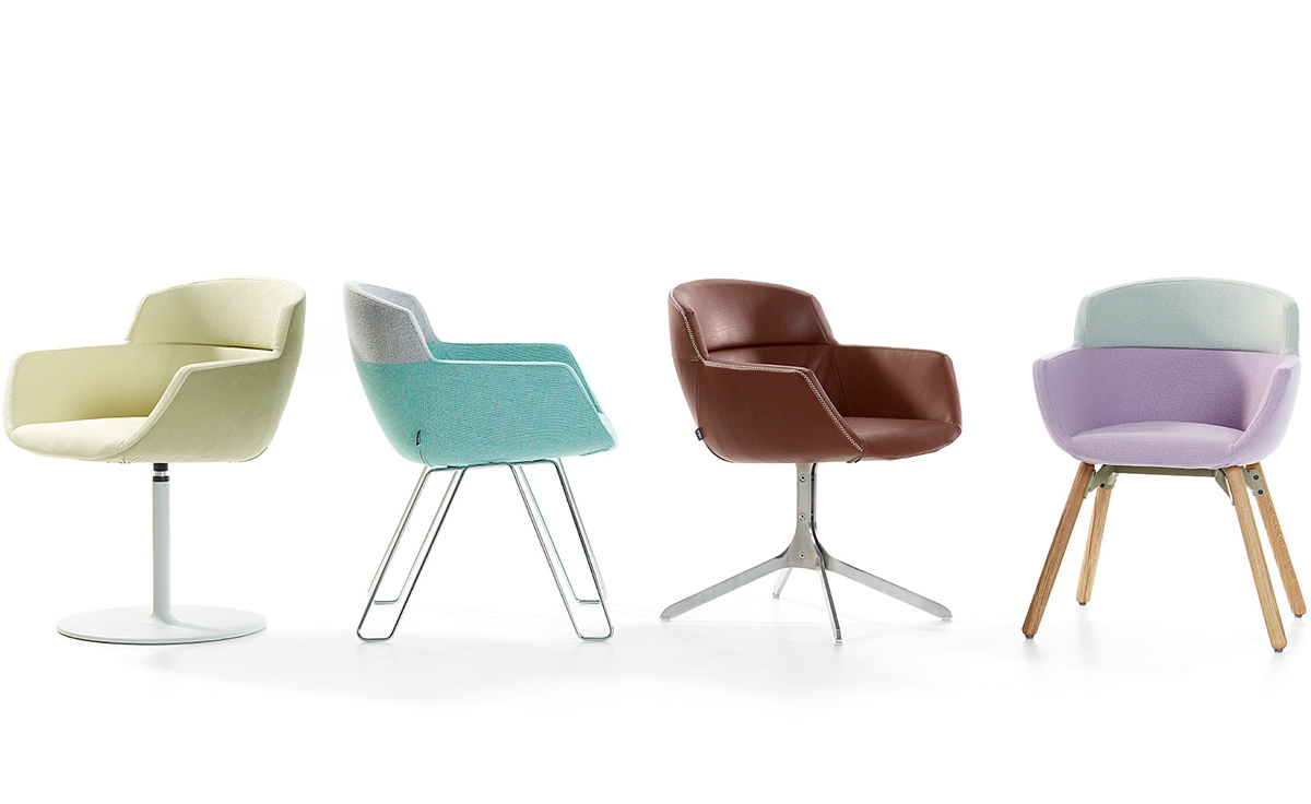 Mood 4 Leg Wood Frame Chair - hivemodern.com
