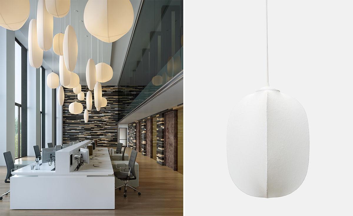 Mori Gourd Suspension Lamp Hivemodern Com