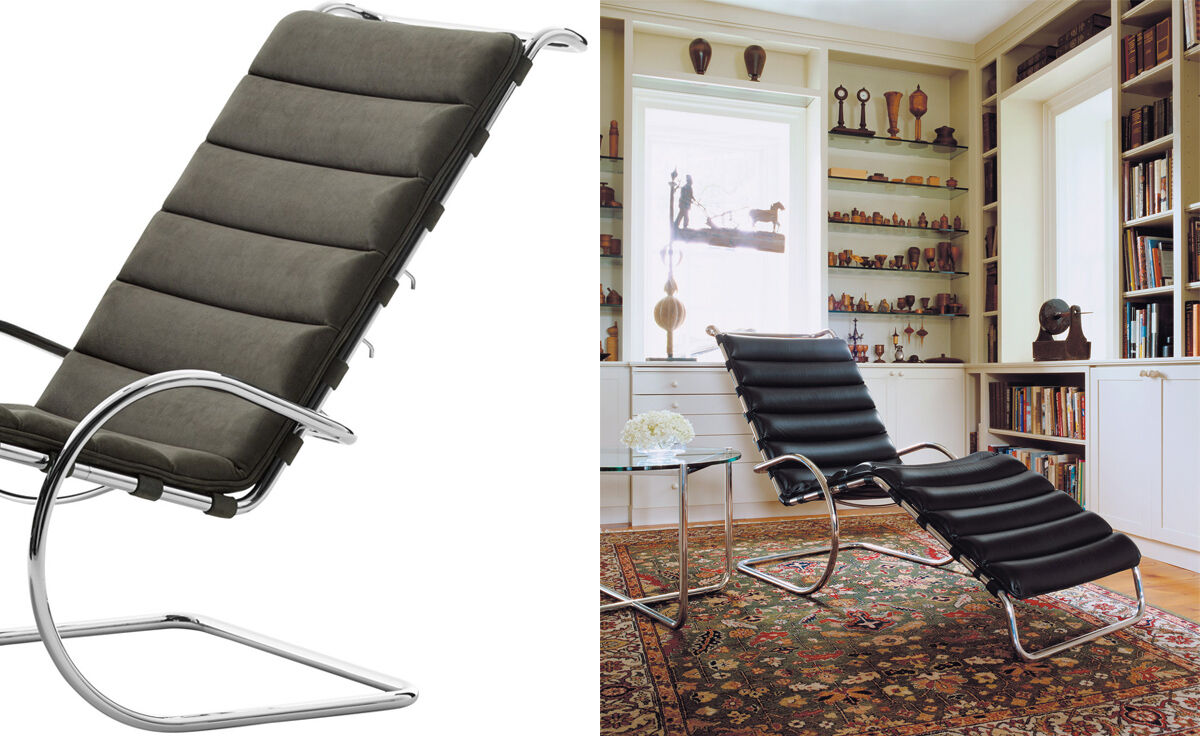 Chaise Brno Mies Van Der Rohe mr adjustable chaise lounge