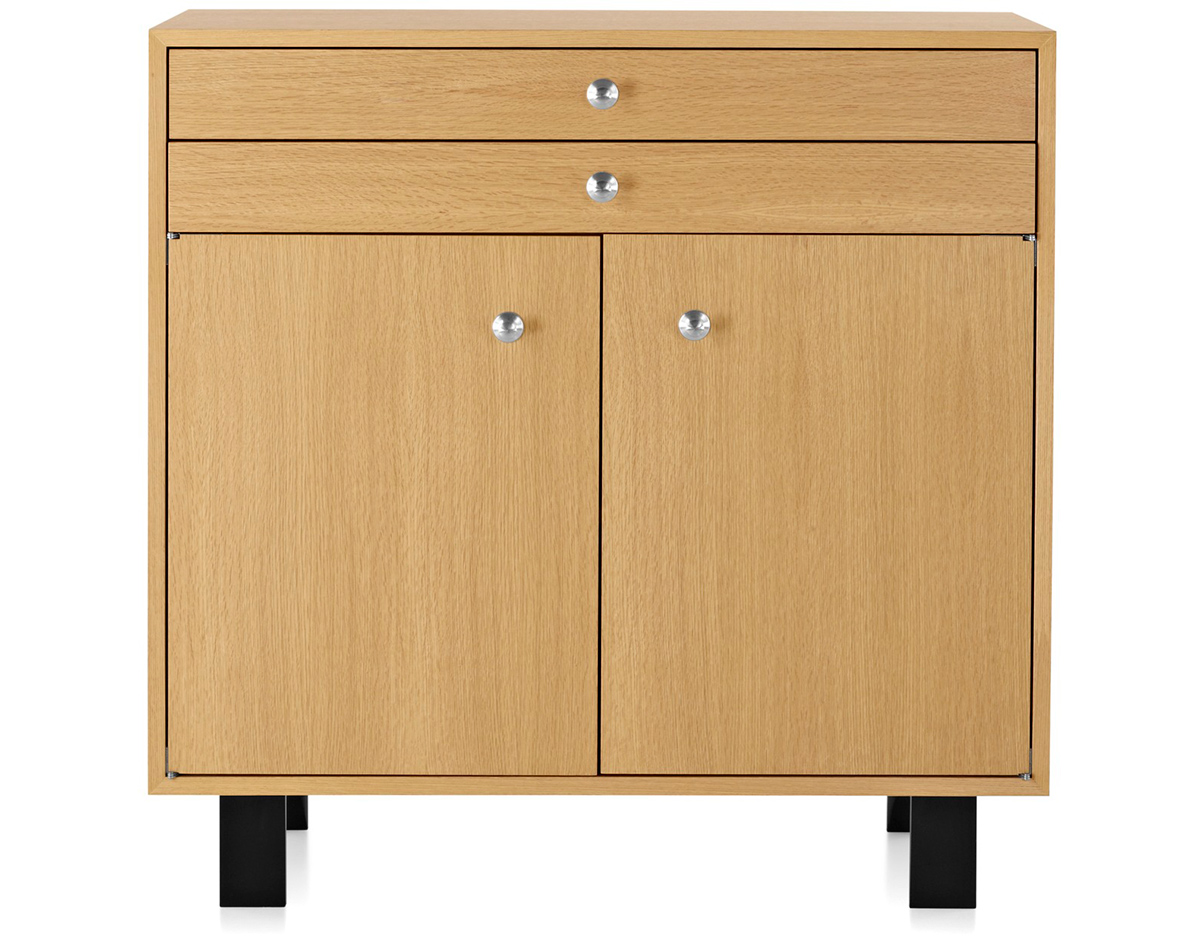 nelson basic cabinet with 2 drawers over 2 doors. Black Bedroom Furniture Sets. Home Design Ideas