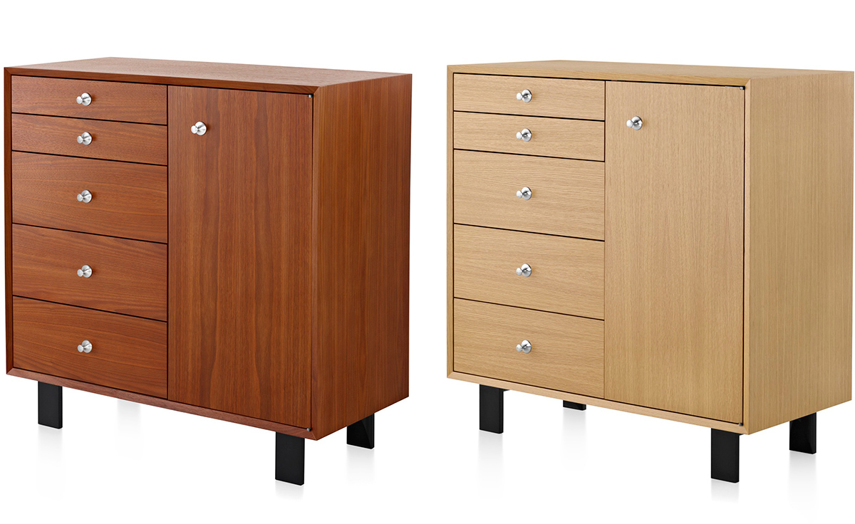 Nelson Basic Cabinet 5 Drawers With Door Hivemodern Com