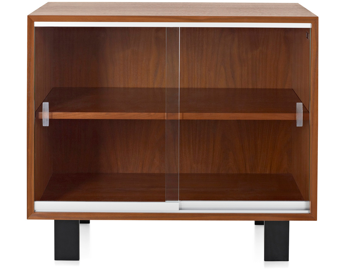 george basic with doors nelson cabinet medium miller herman com hivemodern glass pages bookcase sliding