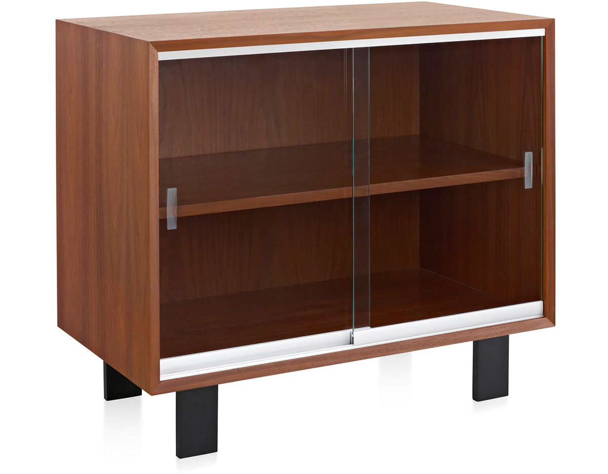 Nelson Basic Cabinet With Glass Sliding Doors Hivemodern Com