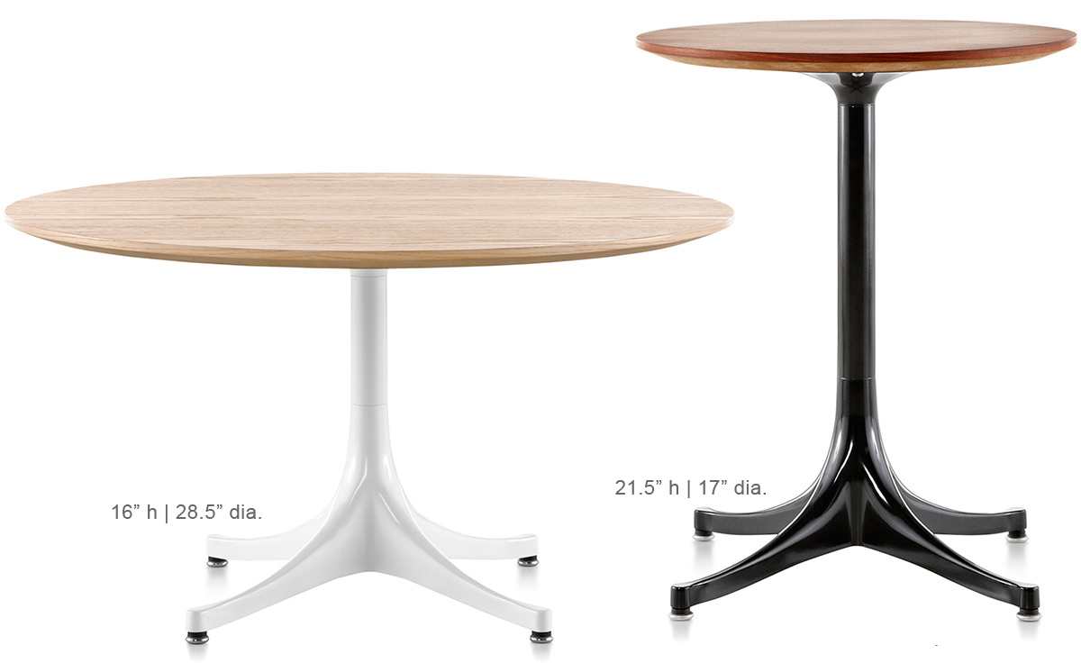 Nelson Pedestal Side Table Hivemodern Com