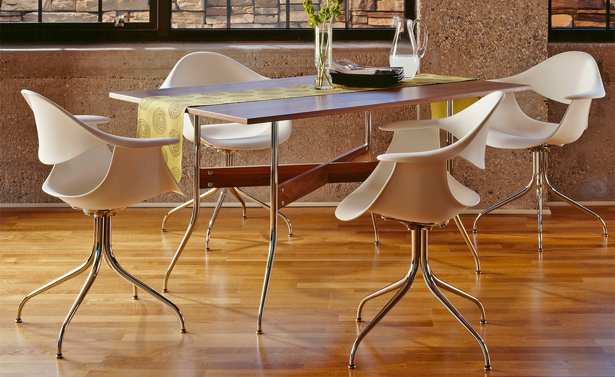 Nelson Swag Leg Rectangular Dining Table Hivemodern Com