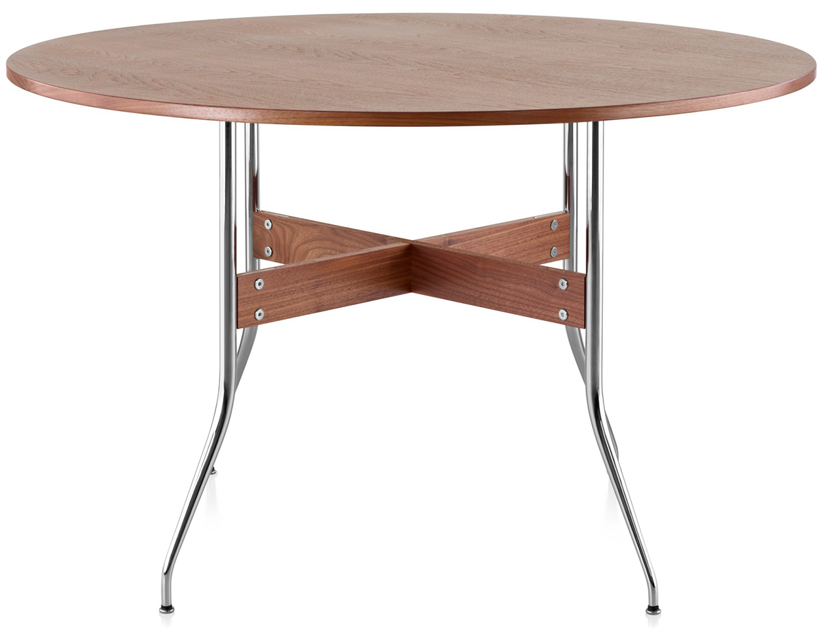 Nelson™ Swag Leg Round Dining Table - hivemodern.com