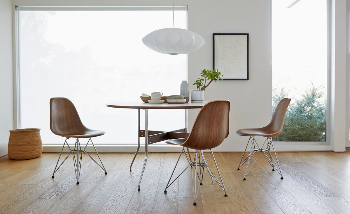 Nelson Swag Leg Round Dining Table, Herman Miller Dining Room Chairs
