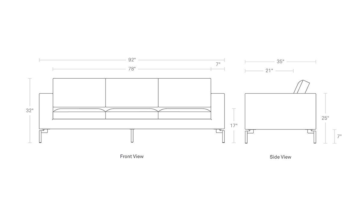 New Standard 92 Leather Sofa Hivemodern Com