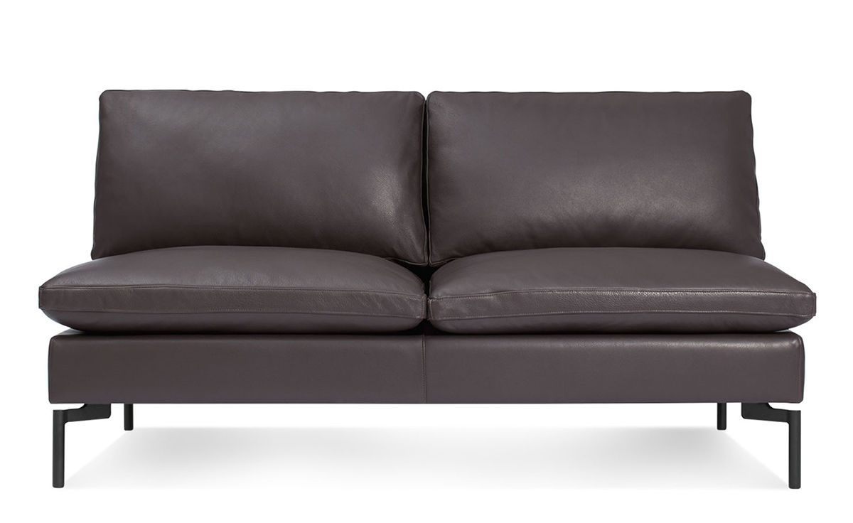 Delicieux New Standard Armless Leather Sofa