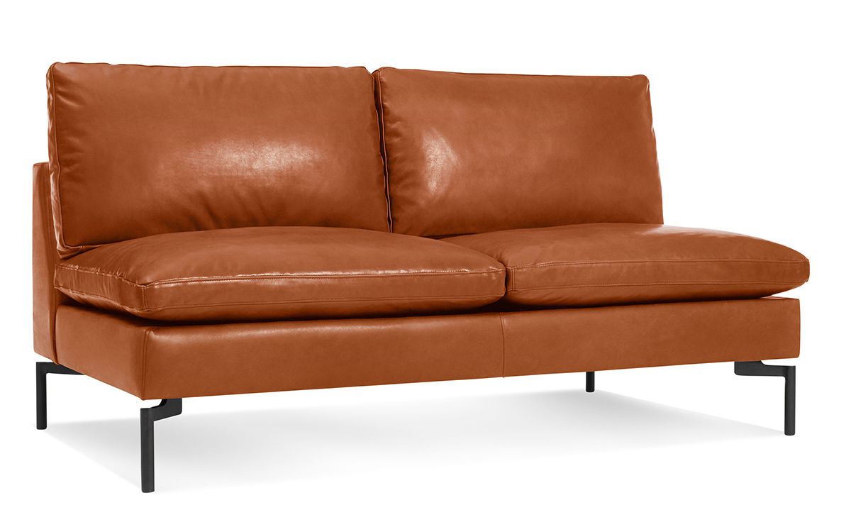 Leather Armless Sofa Knoll Armless Sofa In Original