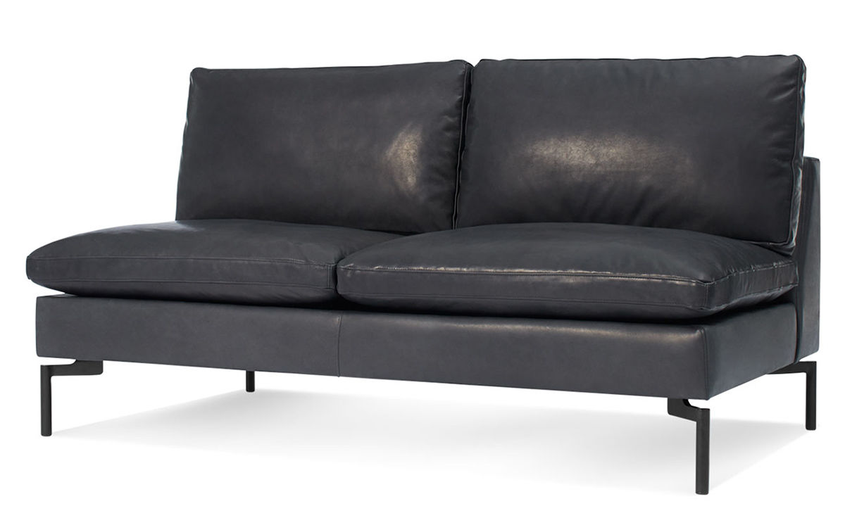 New Standard Armless Leather Sofa hivemodern