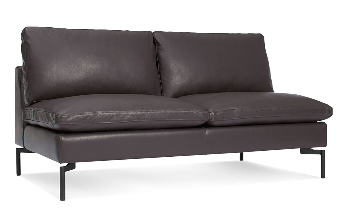 New Standard Armless Leather Sofa Hivemodern Com