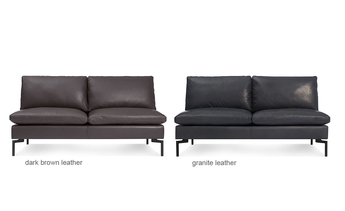 New Standard Armless Leather Sofa Hivemodern Com