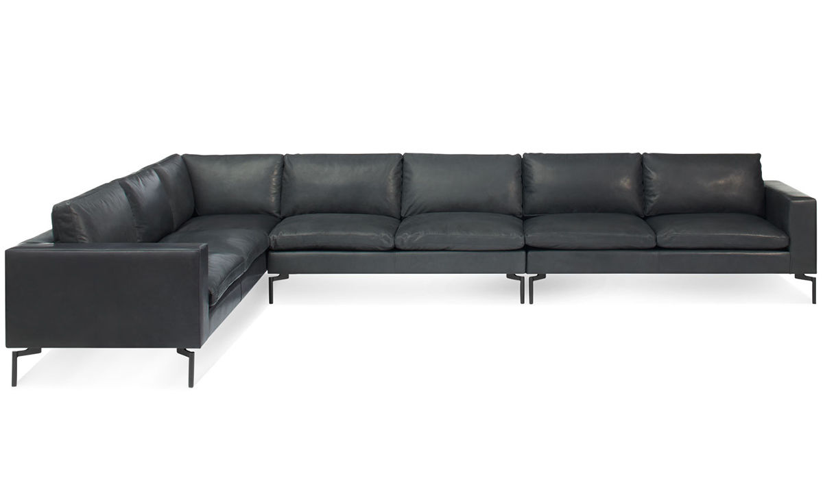 New Standard Large Sectional Leather Sofa