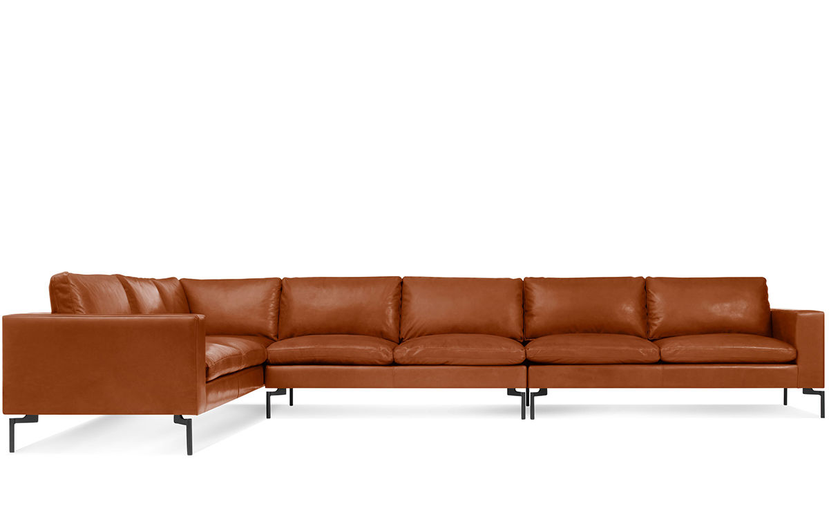New Standard Large Sectional Leather Sofa Hivemodern Com