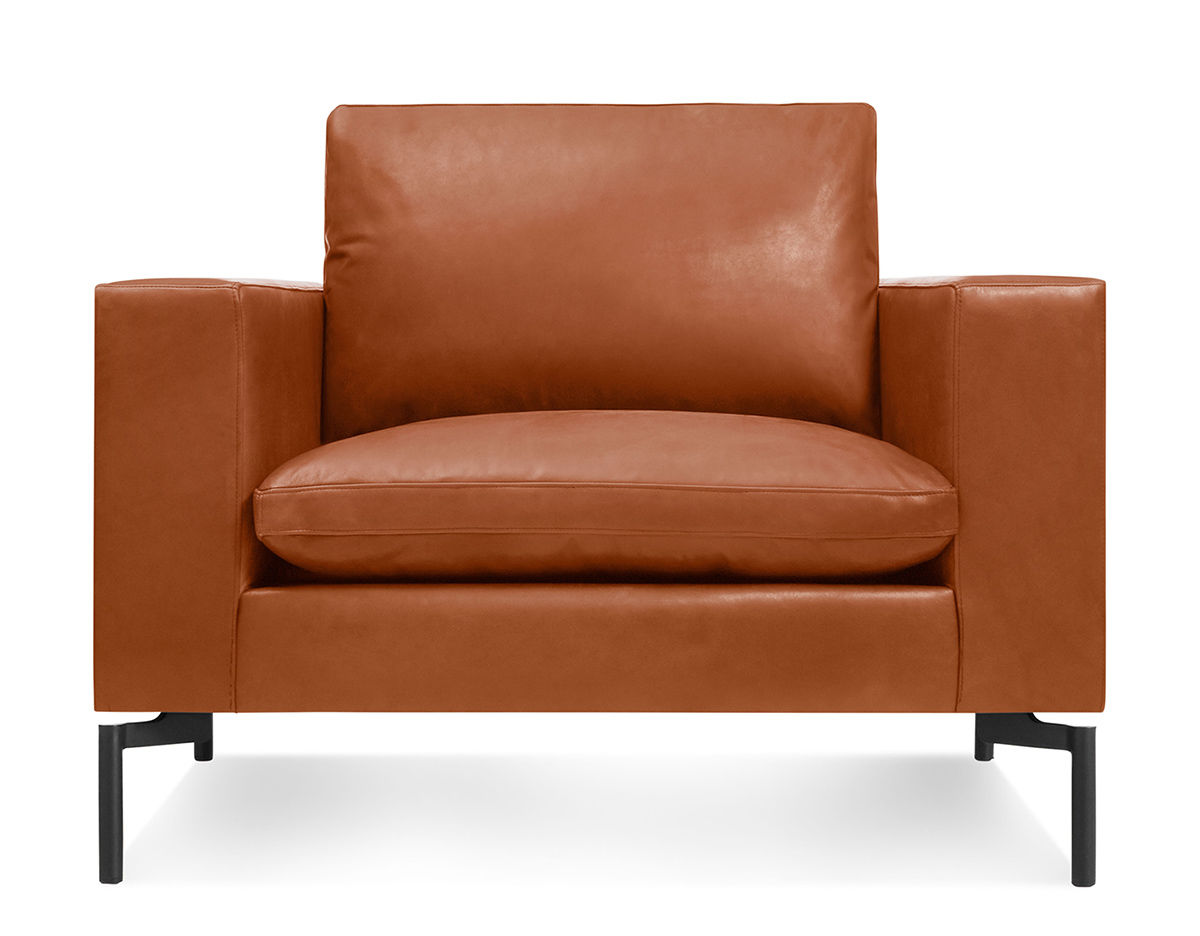 New standard leather lounge chair for Modern leather lounge chairs