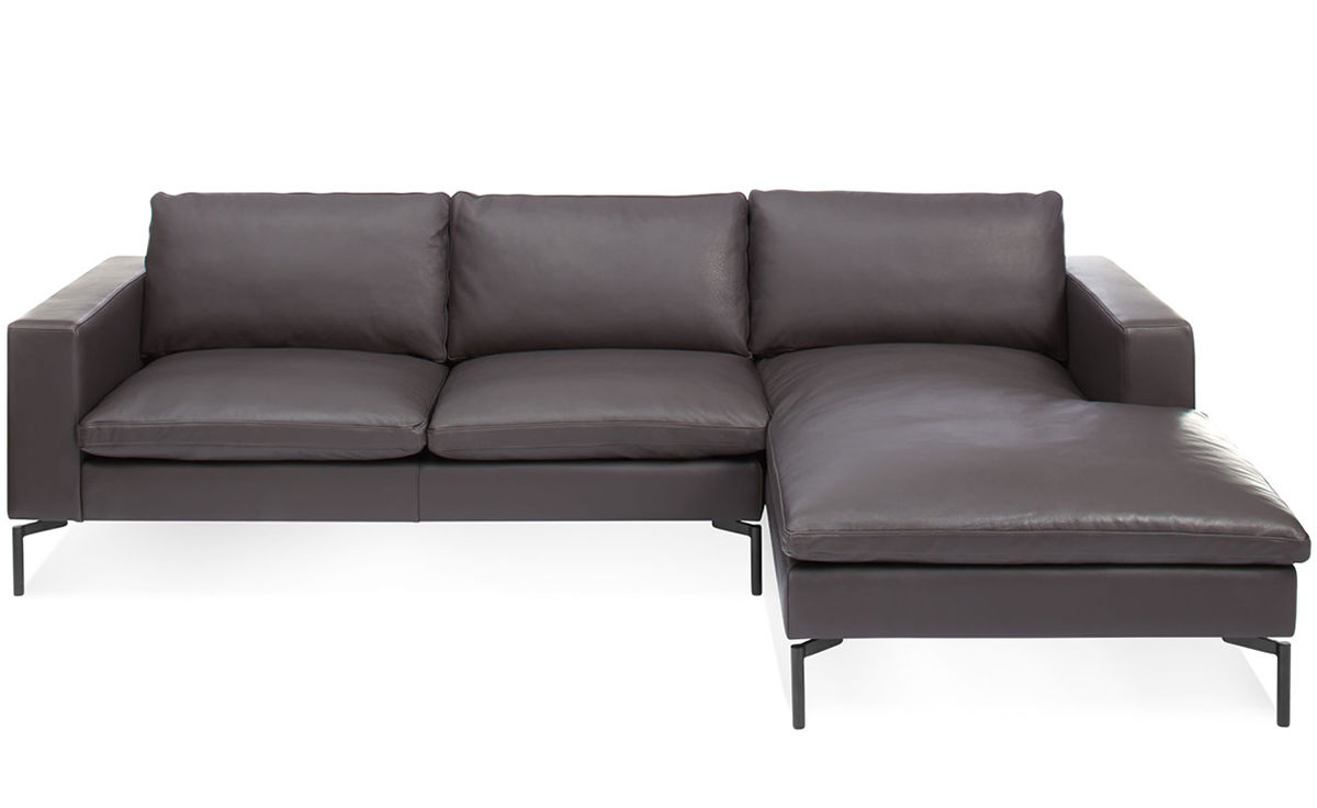 Leather sofa and chaise for Andersen leather chaise sectional