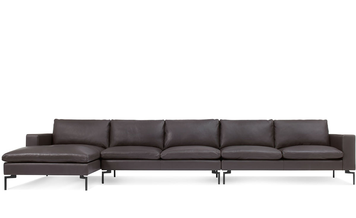 New Standard Medium Sectional Leather Sofa hivemodern