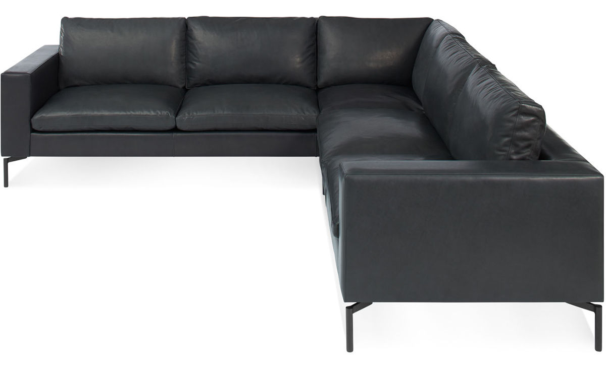 New Standard Small Sectional Leather Sofa Hivemodern Com