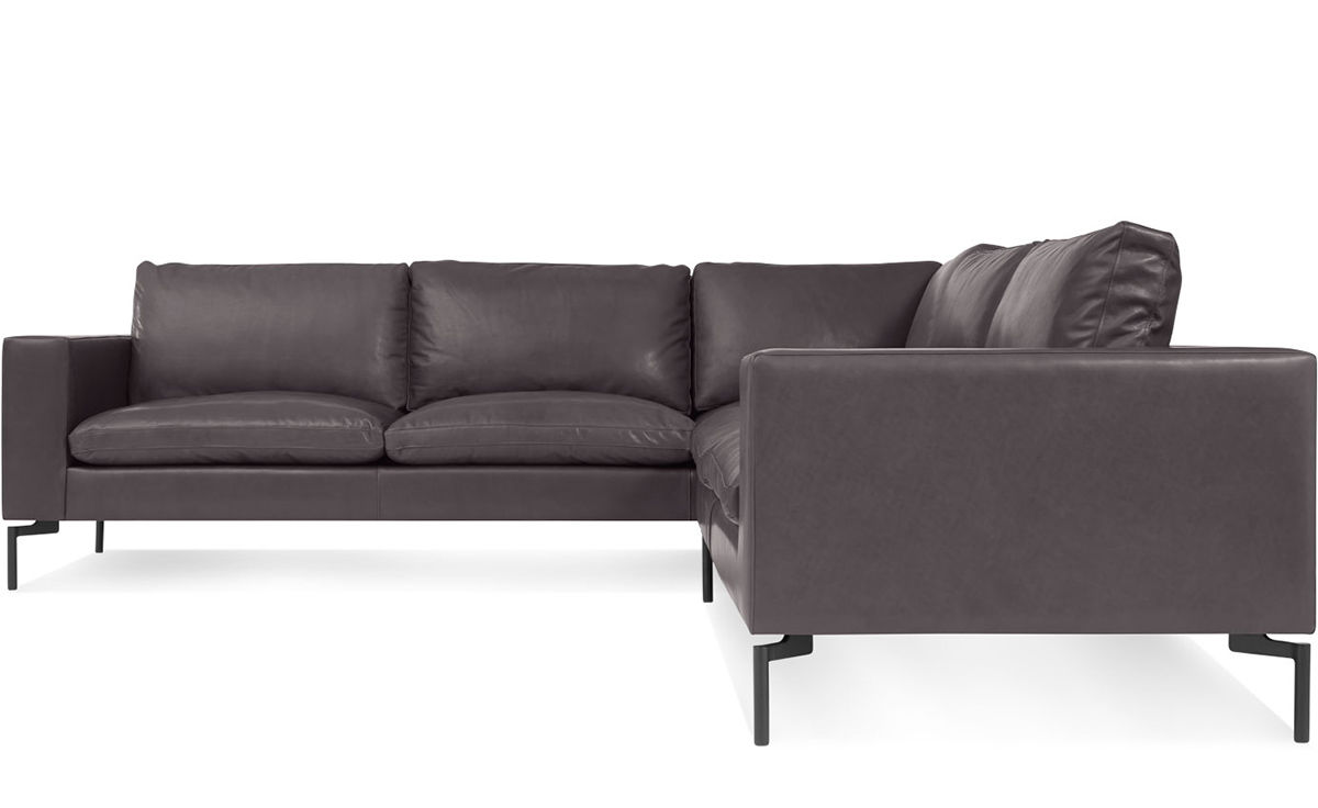 New standard small sectional leather sofa hivemoderncom for Small sectional sofa reviews