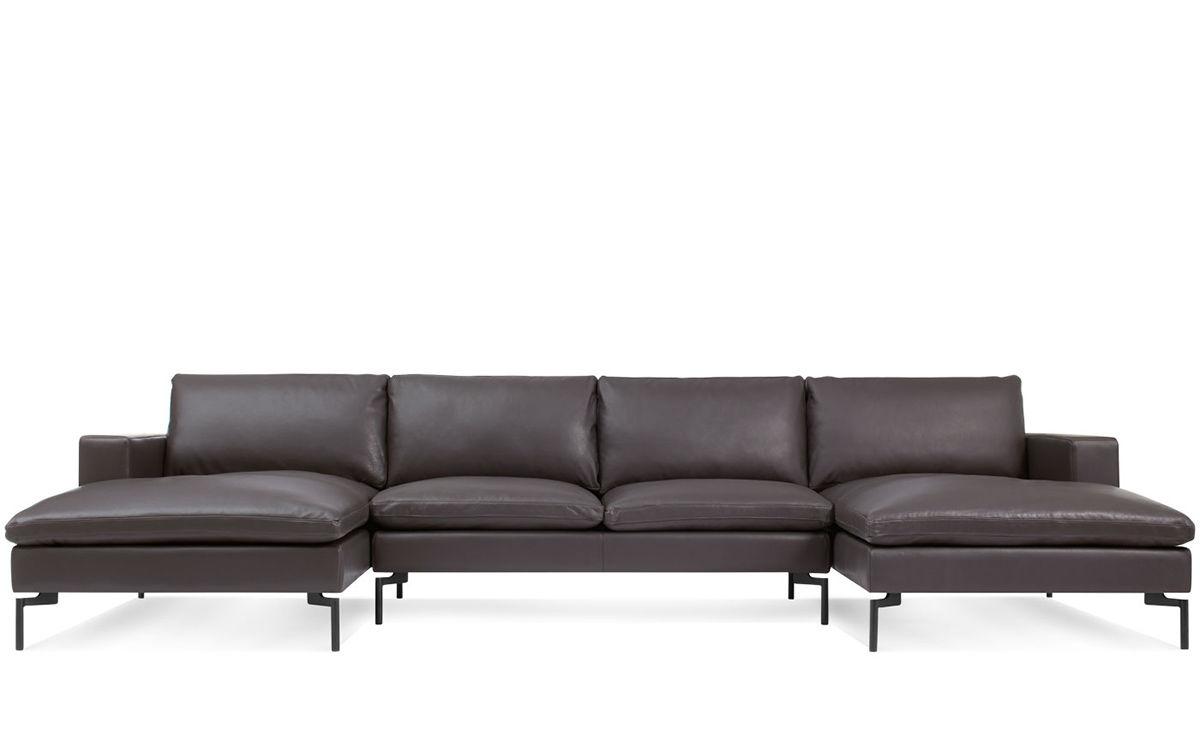 New Standard U Shaped Leather Sectional Sofa Hivemoderncom - U shaped leather sectional sofa