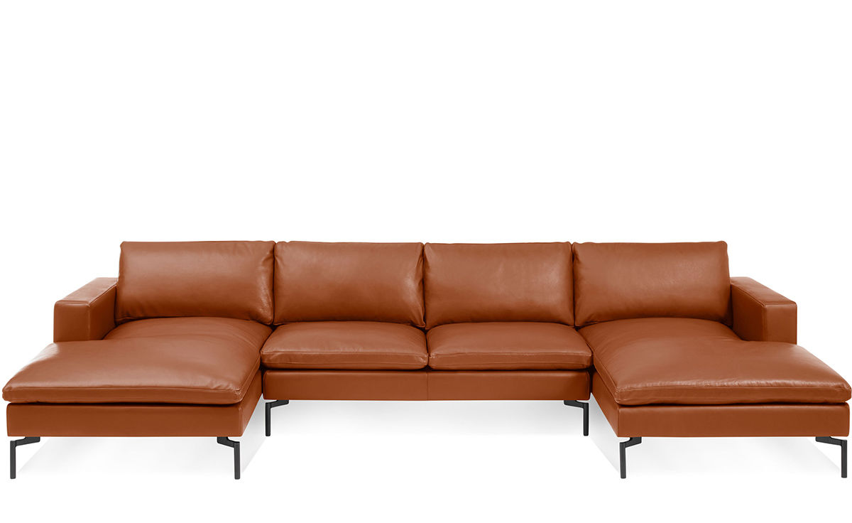 new standard u shaped leather sectional sofa hivemodern com rh hivemodern com large u shaped leather sectional sofa