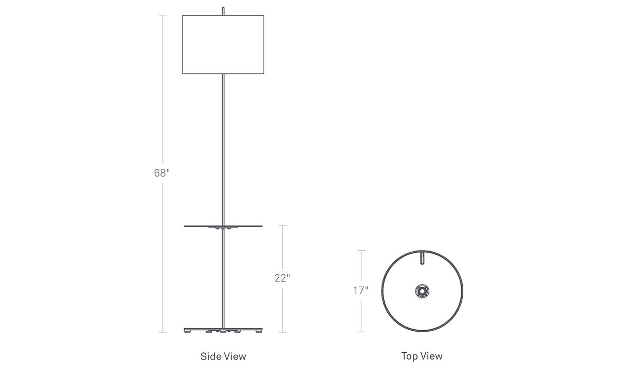Note Floor Lamp With Table Hivemodern Com
