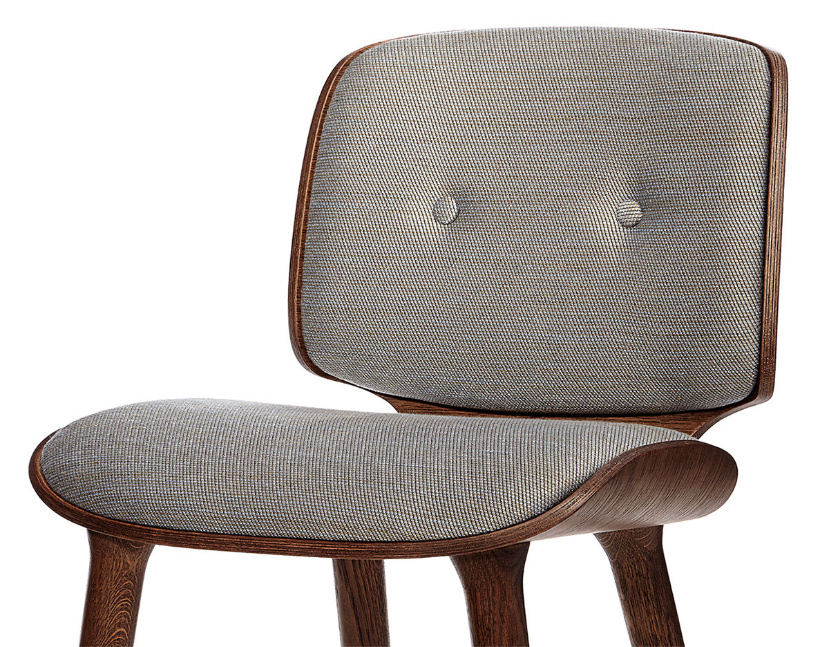 Bent Plywood Chair Nut Dining Chair - hivemodern.com