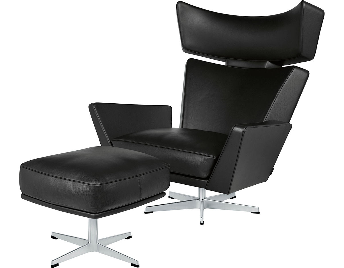 arne jacobsen oksen lounge chair ottoman. Black Bedroom Furniture Sets. Home Design Ideas