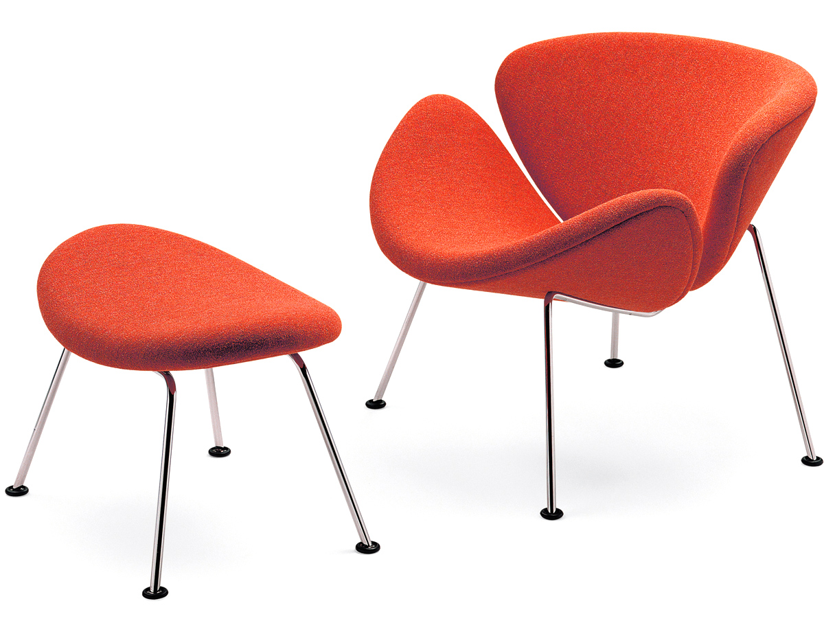 Orange Slice Chair Amp Ottoman Hivemodern Com
